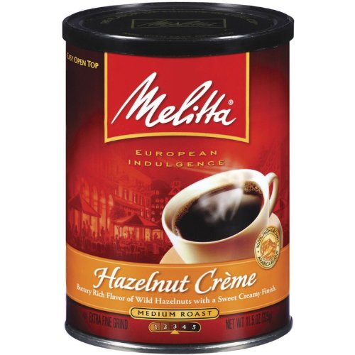 Melitta Hazelnut Creme Ground Coffee, 11-Ounce Cans (Pack of 4) ()