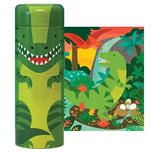(Petit Collage Dinosaur 64 Piece Tin Canister Puzzle)
