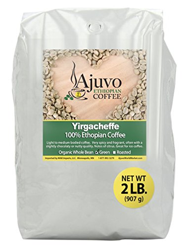 Ethiopian Yirgacheffe Coffee - Green, Whole Bean (2 lb.)