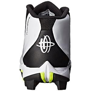 NIKE Boy's Huarache 2KFilth Keystone (GS) Baseball Cleat Black/Volt/White Size 5 M US