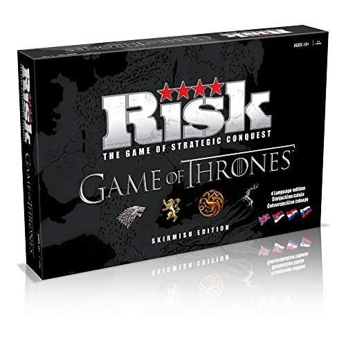 USAOPOLY Risk Game of Thrones Strategy Board Game | The for Game of Thrones Fans | Official Game of Thrones Merchandise | Based on The TV Show on HBO Game of Thrones | Themed Risk Game