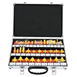 8MILELAKE 35pcs Router Bit Set 1/4 inch Shank Tungsten Carbide Tip Router Bits Woodworking Tool
