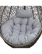 Egg stoel kussen, hangstoel, kussen, schommelstoel, kussen, voor buiten, rond, hangende schommelstoel, stoelkussen, vervanging, dikke wasbare stoelkussens met verstelbare