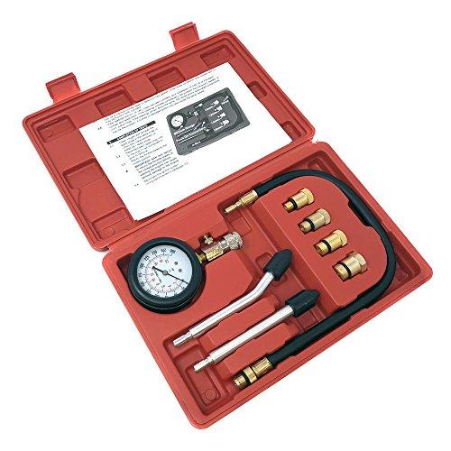 MMG Engine Compression Tester Kit 0-300 PSI Gauge Cylinder Tester Kit Tool ()