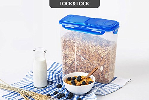 LOCK&LOCK Plastic Cereal Dispenser Dry Food Storage Keeper 3.9L(16.48 cup), Pack Of 4 by LOCK & LOCK (Image #3)