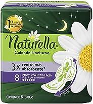 Naturella Toalla Femenina Noche Abundante, 8 Unidades con Alas