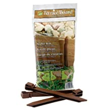 Master Mark Plastics 99310 Terrace Board 10 Inch 10 Pack, Brown Stakes,