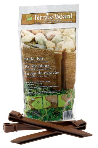 Edge Stake - Master Mark Plastics 99310 Terrace Board 10 Inch 10 Pack, Brown Stakes,