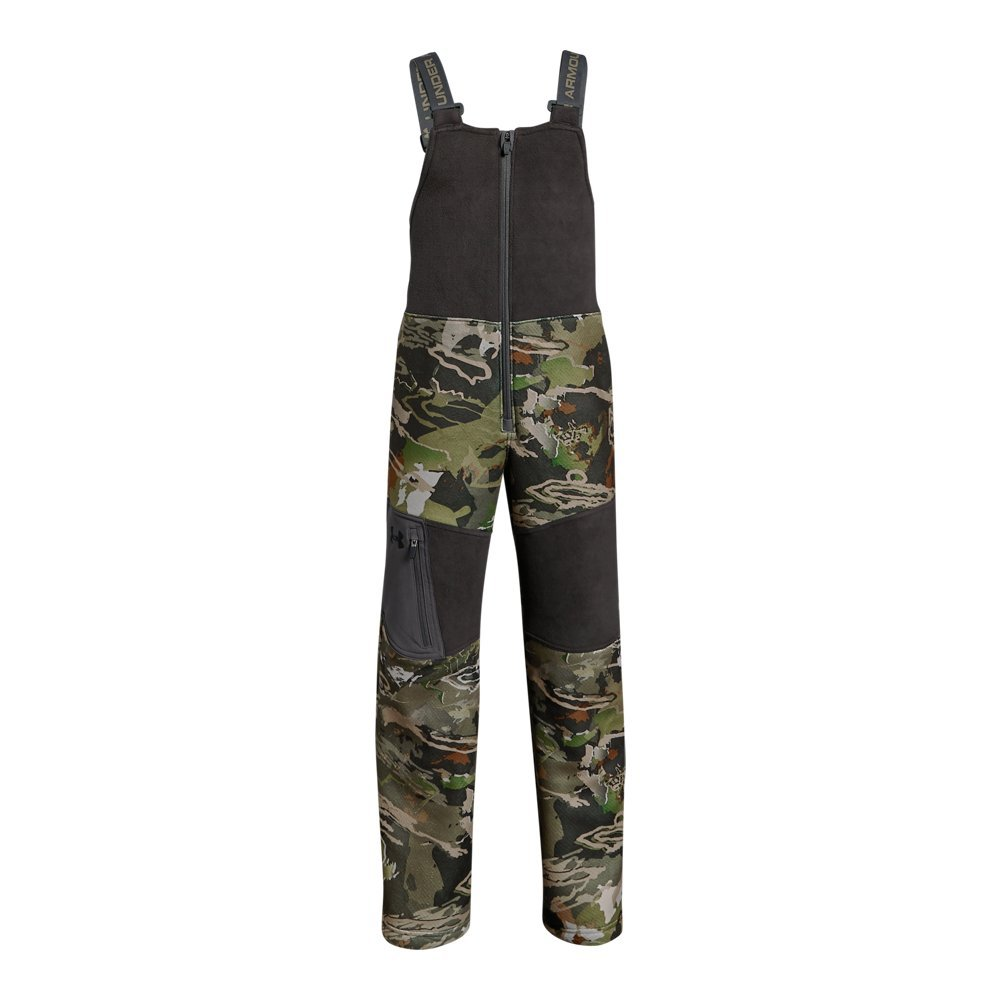 Under Armour Boys Mid Season Bib, Ua Forest Camo (940)/Black, Youth X-Small by Under Armour