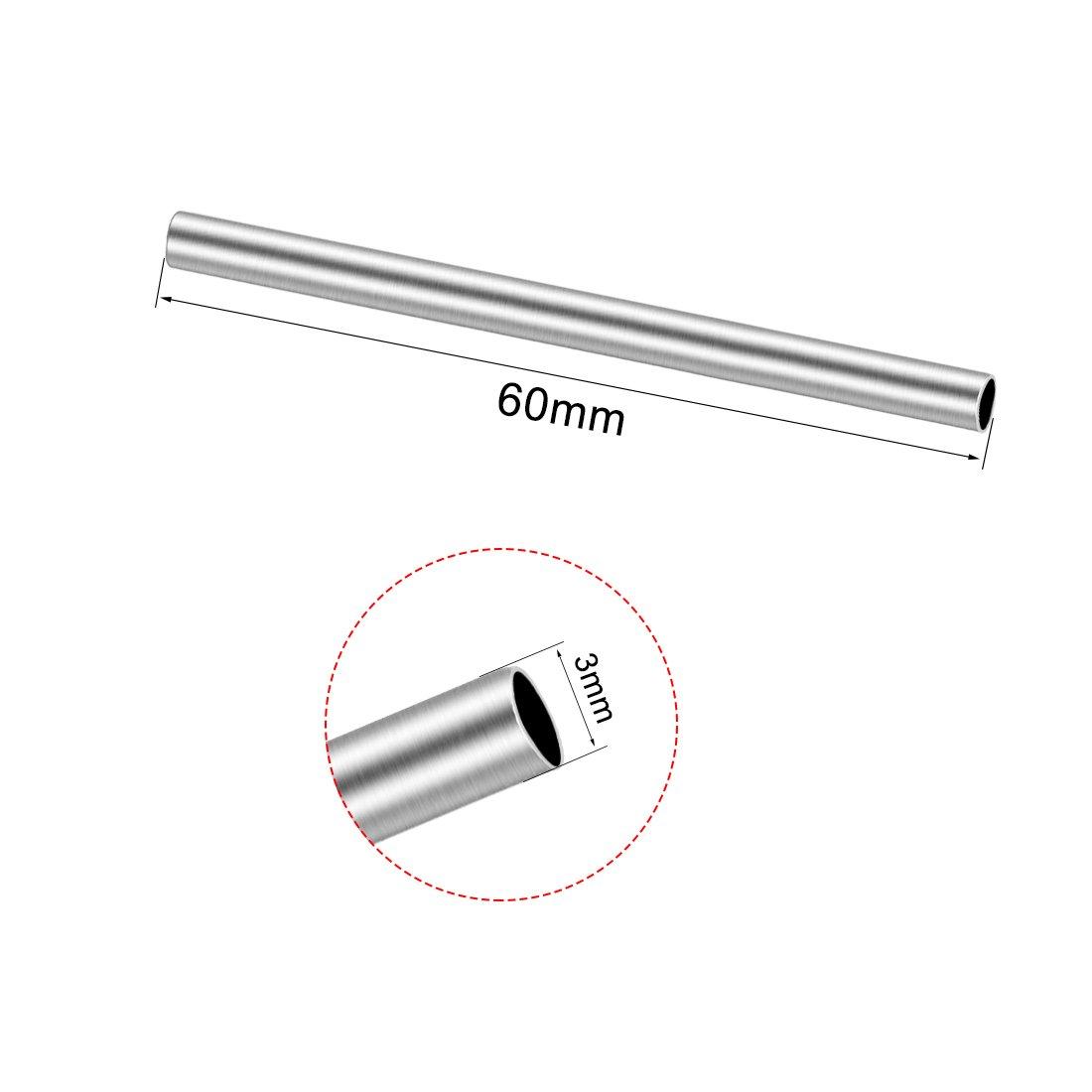 sourcing map 20pc Arbre laiton tringle ronde 50mmx2mm Pour voiture RC jouet DIY Mod H/élicopt/ère