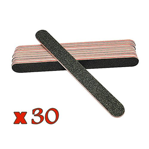 Fashion gallery 30 PC/Lot Women Lady Pro New Black Double Sided Nail Art Manicure Sanding File Buffer Grits 100/180 Makeup Tools