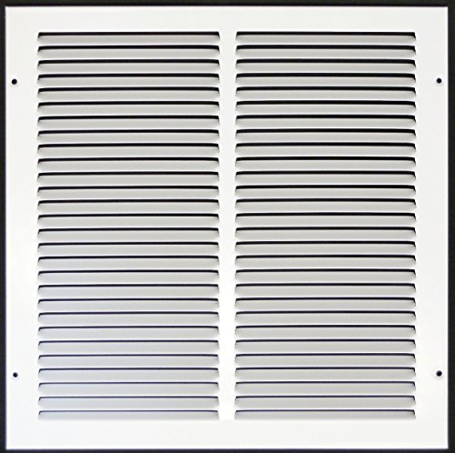 Truaire 170 12X12 Return Air Grille 12-Inch x 12-Inch Sidewall or Ceiling Return Air Grille, White (12x12 Vent Cover)