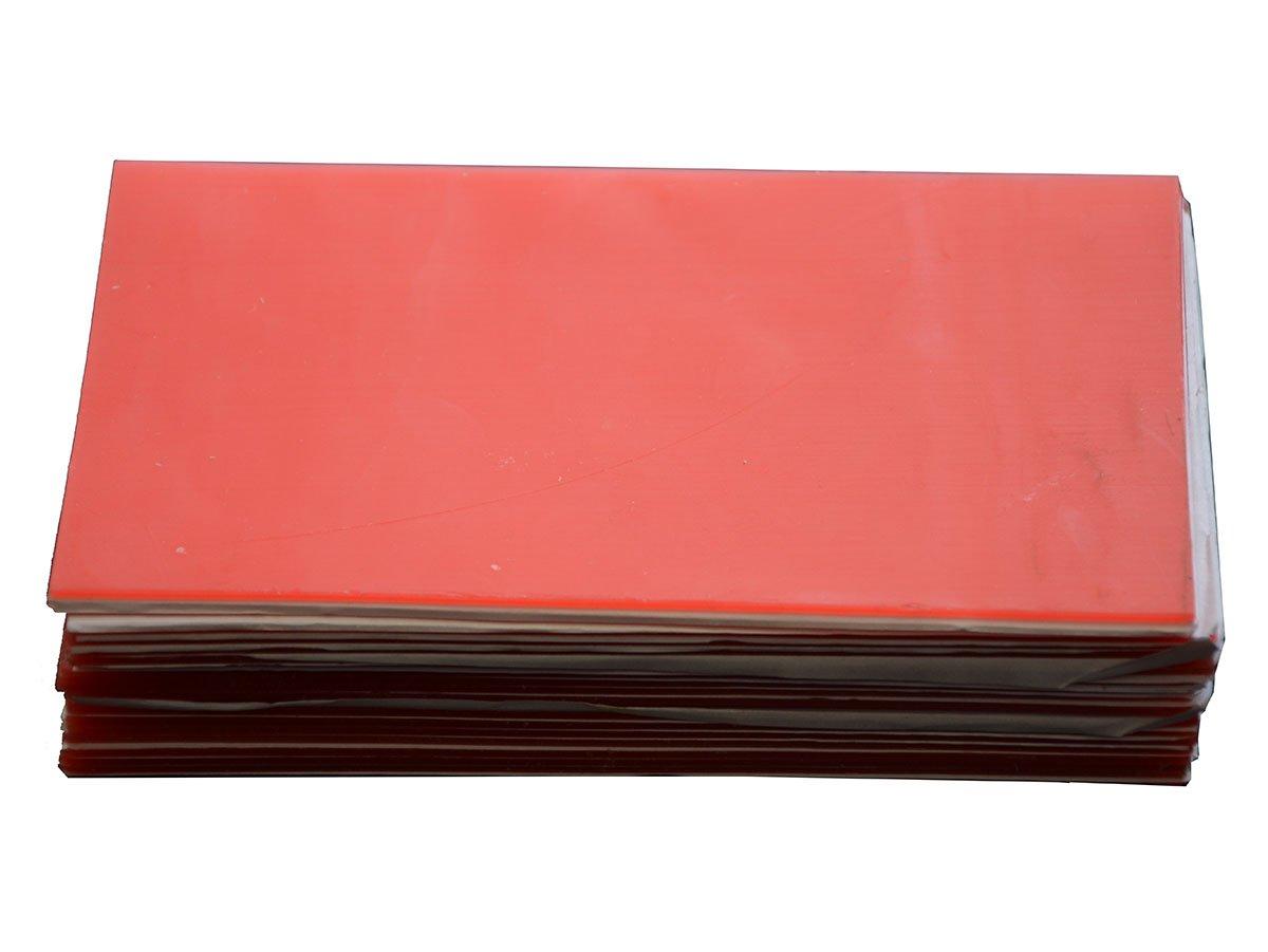 TJIRIS 2.0mm Red Base Plate Wax Modeling Waxing Sheet 30 Boxes