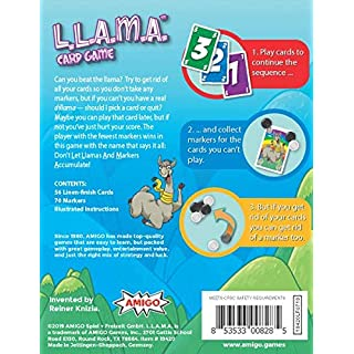 AMIGO L.L.A.M.A. Llama-Themed Family Card Game Nominated for The Spiel Des Jahres (Game of The Year)