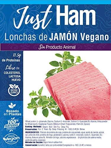 JUST VEGAN - LONCHAS DE JAMON VEGANO 300g | 100% VEGETALES ...