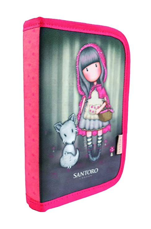 GORJUSS Little Red Riding Hood Estuches, 20 cm, (Red Schwarz ...