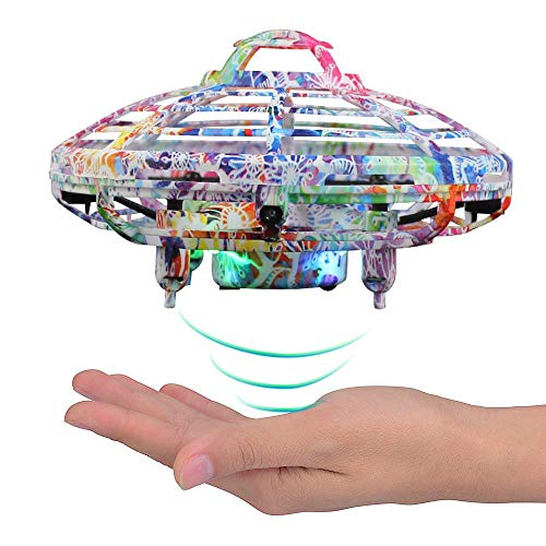 LOKMAT Drones for Kids, Hand-Controlled Suspension Mini Helicopter Drone,Infrared Induction Interactive Drone Flyer Toys with 360° Rotating and LED Lights, Flying Toys for Boys Girls (Multicolor)