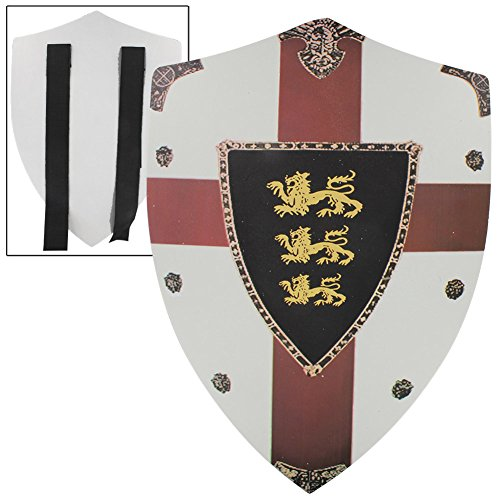 Richard the Lionheart Lion Passant Guardant Medieval Foam Shield (Shield Lionheart)
