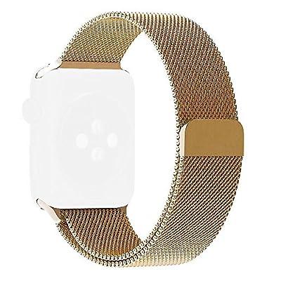 Apple Watch Series 2 Series 1 Band, Aokay 38mm Magnetic Milanese Loop Stainless Steel Bracelet Strap Replacement Wrist Band for Apple Watch Series 2 Series 1