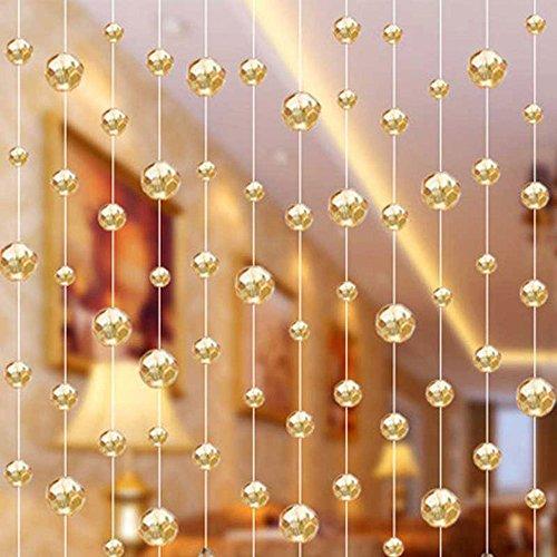 SKY CANDYBAR 10 Meters Glass Crystal Beads Curtain Window Door Curtain Passage Wedding Backdrop by SKY CANDYBAR