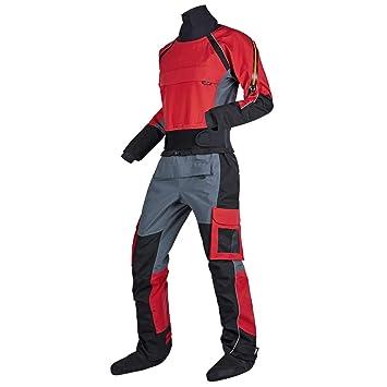 Amazon.com: KING-Q PROOF traje seco para hombre para kayak ...