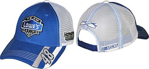 Checkered Flag NASCAR 2015 Striper Trucker Hat-Jimmie Johnson #48 Lowe's
