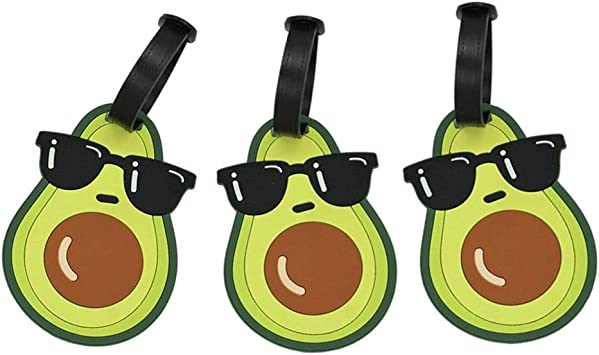 Avocado Luggage Tags Bag Travel Labels For Baggage Suitcase