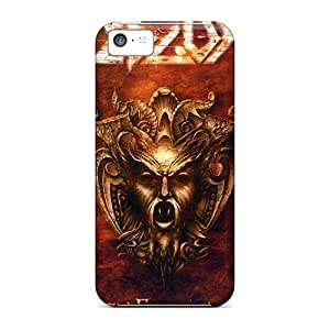Excellent Hard Cell-phone Cases For Iphone 5c (pTF19820OsLU) Allow Personal Design Trendy Edguy Band Pattern