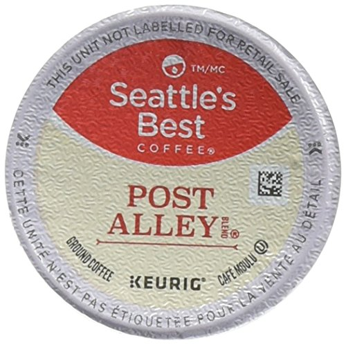 Seattle's Best Coffee Post Alley Blend (Previously Signature Blend No. 5) Dark Roast Single Cup Coffee for Keurig Brewers, 6 boxes of 10 (60 Total K-Cup pods)
