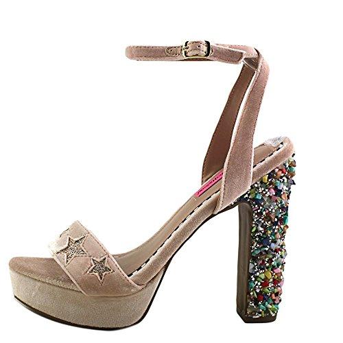 Betsey Johnson Women Lolas, Blush / Multicolor, Sandalo Blush Multi