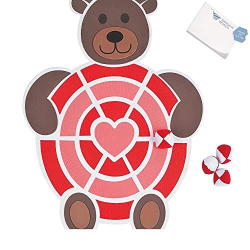 (Bargain World Foam Valentine Dartboard (With Sticky Notes))