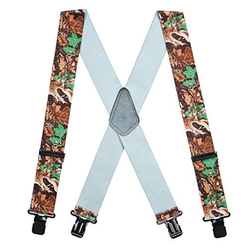 SuspenderStore Men's Advantage Camo Suspenders - 2 Inch Wide