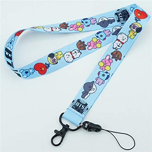 Key Chains - BTS BT21 Bangtan Boys Neck Strap Lanyard Charms Lariat Cell Phone Strap ID Badge Holder Rope Keychains Cosplay Accessories - by YPT - 1 PCs ()