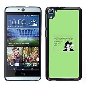 EJOY---Cubierta de la caja de protección para la piel dura ** HTC Desire D826 ** --Consejos para los usuarios Cita divertida Amor Online