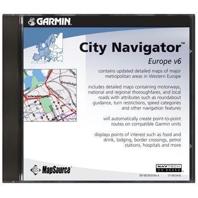 City Navigator Software Mapsource (Garmin MapSource City Navigator Europe (CD-ROM))