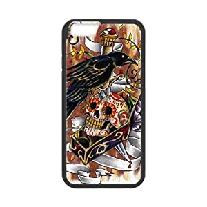 """J-LV-F Cover Shell Phone Case Artsy Skull For iPhone 6 (4.7"""")"""