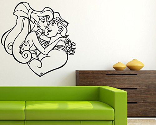 Lovers Meg & Hercules Art Walt Disney Cartoon Poster Hercules Wall Vinyl Decal Home Interior Decor Girls Boys Bedroom Sticker Nursery Room Image (Meg Disney)