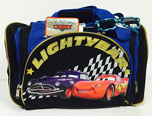 Disney Cars Lightning McQueen Duffle Bag and Sunglasses Set -