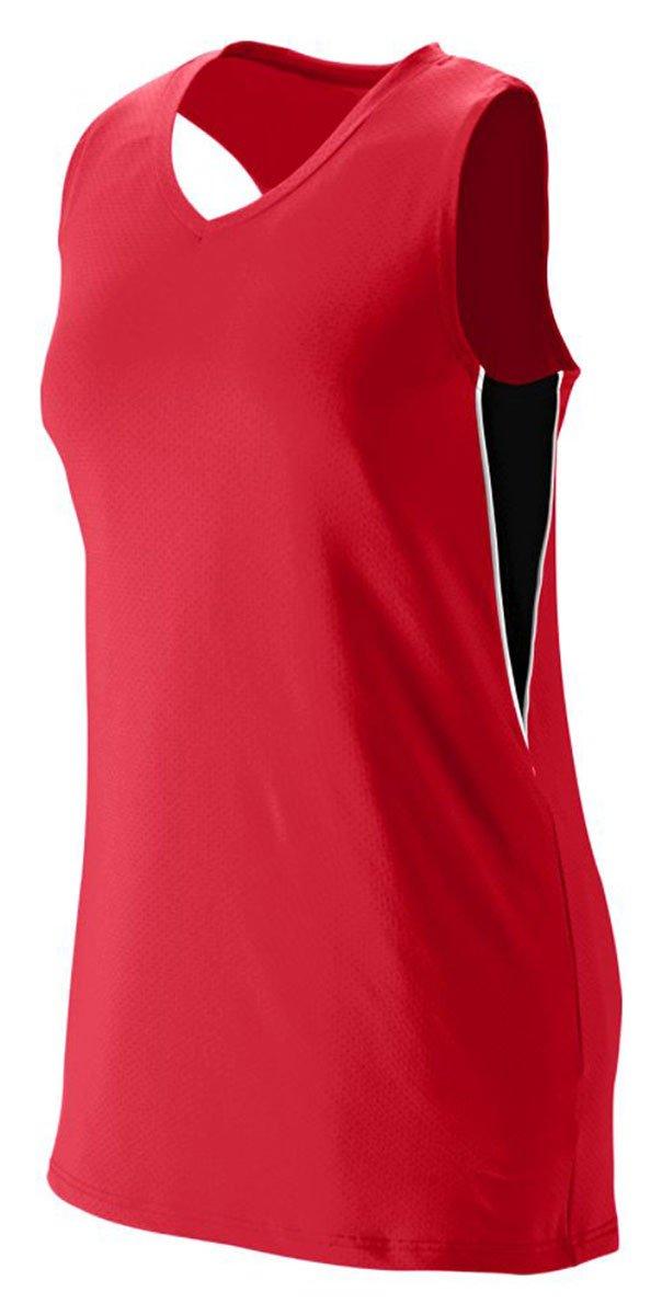 Augusta Sportswear Girls ' Inferno Jersey B00HJTK51O Large|レッド/ブラック/ホワイト レッド/ブラック/ホワイト Large