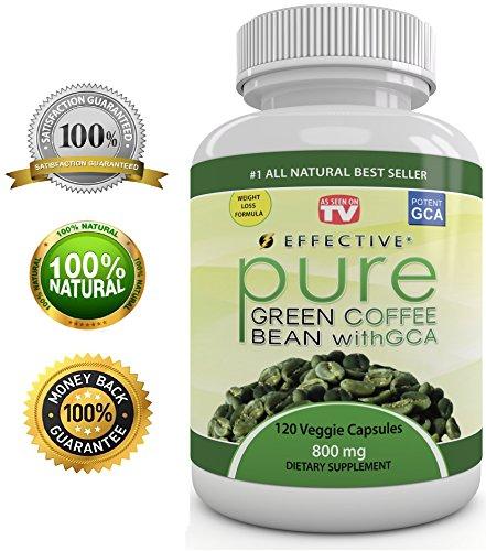 Extrait de café vert de BEAN PURE efficace - As Seen On TV - MAX FORCE FAT BURNER - Diet Pills - Formule Premium - 100% Pure - Natural Organic - 4800 mg par jour - PUISSANT 50% GCA - PERTE DE POIDS RAPIDE - plus Appétit - 100% VIE GARANTIE - 120 purs Caps
