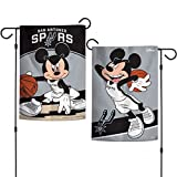 WinCraft San Antonio Spurs Mickey Mouse Garden Flag NBA Licensed 2-Sided 12.5' x 18'