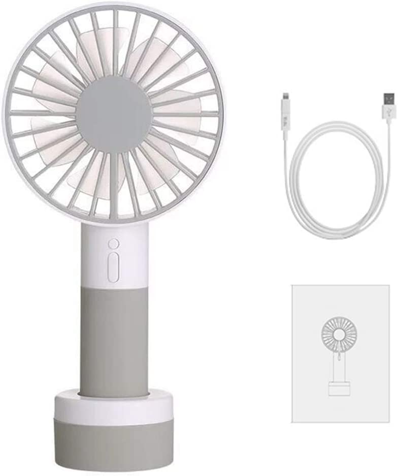 bromrefulgenc Mini Handheld Fan,Portable Small Personal Fan,Mini Handheld Fan with Stand Cradle Wind Blower for Laptop Computer Green