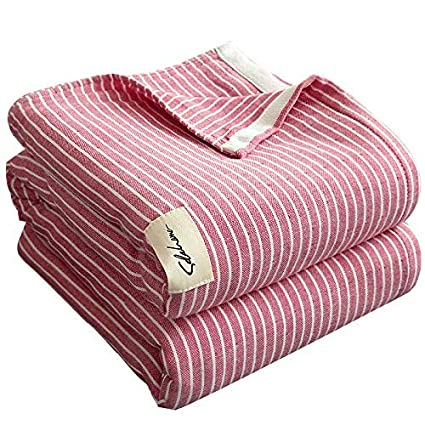 Amazon.com: Lihin Easy Care - Manta de algodón de 3 capas ...