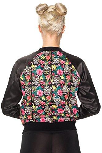 Cazadora Punk para Mujer de Banned Brooke Azúcar Calavera Flores Floral Harrington