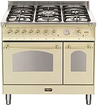 Lofra Retro Gas Eléctrico Stand Cocina 90 cm/doble horno/Color ...