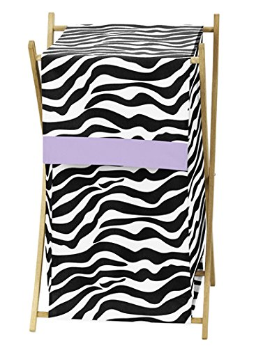 Baby and Kids Purple Funky Zebra Clothes Laundry Hamper by S
