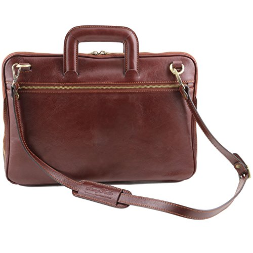 LEATHER Document 81413244 brown TUSCANY 81413244 briefcase CASERTA TUSCANY Leather qX64tc4Hw