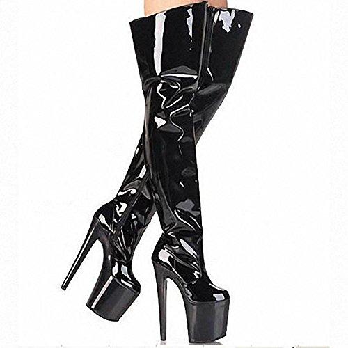 di 40 in ginocchio modello danza Donna Pole lunghi ¹ klmknjnjnnnn tallone BLACK alto stivali notturna pelle Scarpe BER 36 ¨ Club Super Performance BLACK tPgZxwqZ