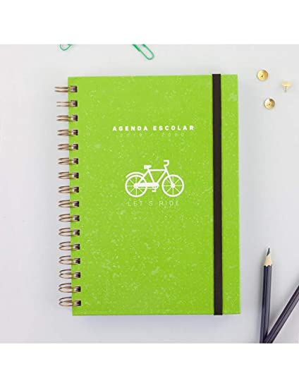Casterli - Colección Positive - Agenda Escolar 2019-2020, Día Página, Tamaño A5 (Bici)