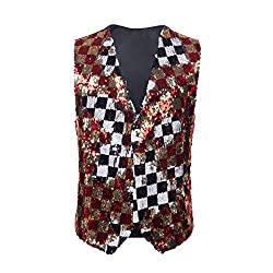 Men's Double Sided Sequins Waistcoat